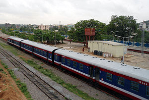 Malkajgiri railway station - KCG-Miryalguda DEMU Passenger train at Malkajgiri railway station