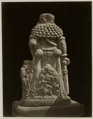 KITLV 28324 - Isidore van Kinsbergen - Sculpture -back- from 1322 of Shiva as holy watcher Panataran, Kediri - 1867-02-1867-06.tif