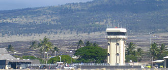 Kona International Airport - The airport's former control tower (demolished in 2014)