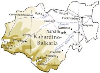 Kabardino-Balkaria - Map of the republic