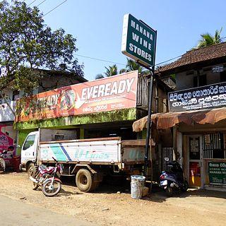 Kalawana Village in Central Province, Sri Lanka