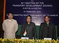 Kamal Nath and the Ministers of State for Road Transport and Highways, Shri R.P.N. Singh and Shri Mahadev S. Khandela at the Conference of Minister in Charge of Highways of StatesUTs, in New Delhi on February 05, 2010.jpg