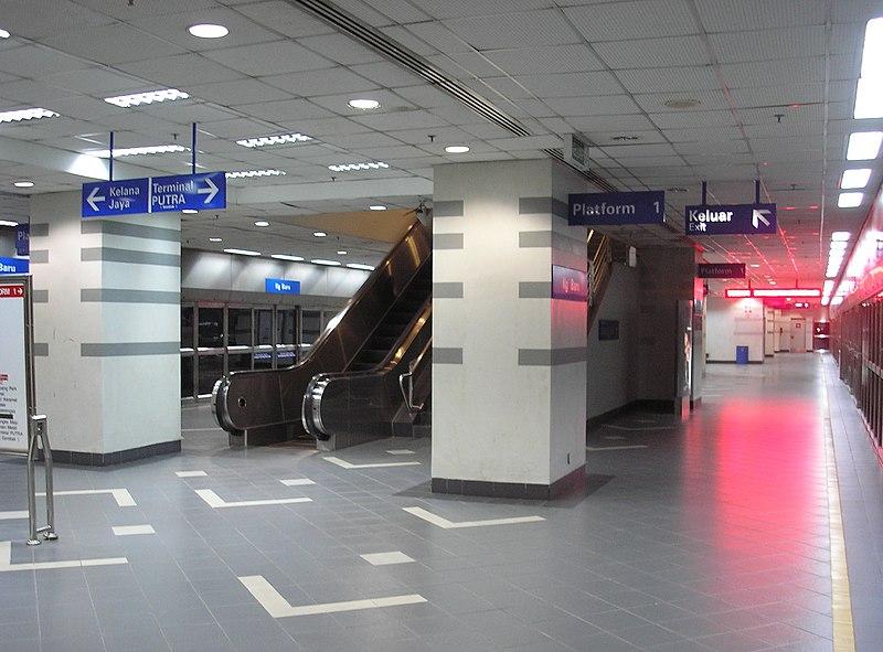 Fail:Kampung Baru station (Kelana Jaya Line), Kuala Lumpur.jpg