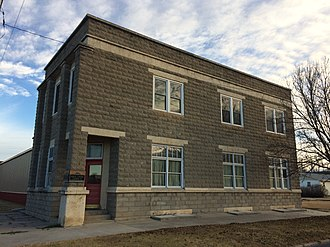 Morland, Kansas - Morland Community Foundation Inc building (2017)