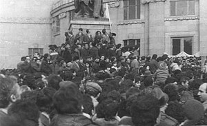 Freedom Square, Yerevan - Image: Karabakh movement demonstration at Yerevan Opera square (4)