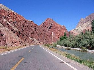 Karakoram Highway - The Karakoram Highway in the Xinjiang region of China.