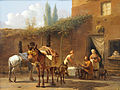 Karel Dujardin Muleteers at an Inn.jpg