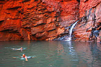 Karijini National Park - Handrail Pool in Weano Gorge