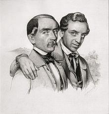 Die Brüder Murhard, Eduard Handwerck, Lithographie um 1840 (Quelle: Wikimedia)