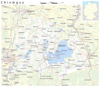 Chiemgau - Map of the Chiemgau