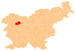 The location of the Municipality of Železniki