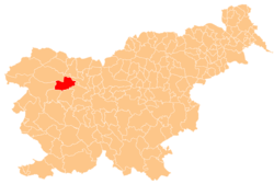 Location of the Municipality of Železniki in Slovenia