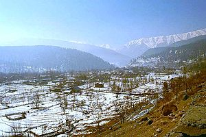 Pir Panjal Range - A view towards the massive Pir Panjal range