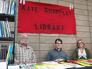 English: The Kate Sharpley Library booth at th...