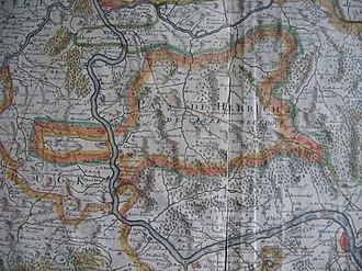 County of Katzenelnbogen - The County of Katzenelnbogen shown on an early 18th-century map