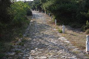 Kavala - Via Egnatia in Kavala.