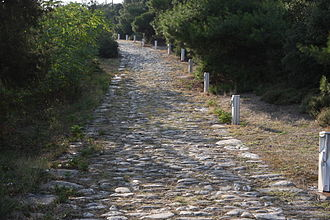 Via Egnatia - Ancient Via Egnatia in Kavala (Neapolis)