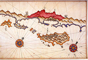 Kekova - Historic map of Kekova by Piri Reis