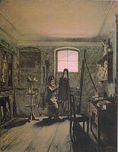 Atelier des Malers Gerhard von Kügelgen (Gemälde von Georg Friedrich Kersting) (Quelle: Wikimedia)
