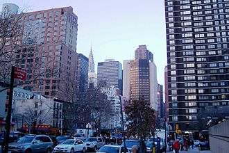 Kips Bay, Manhattan - The view from the Kips Bay Mall on Second Avenue