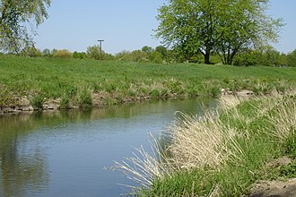Kishwaukee River - The Kishwaukee River meanders by Annie's Woods in DeKalb in spring 2006.