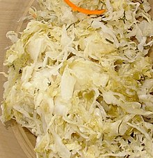 Sauerkraut, canned, solids and liquids