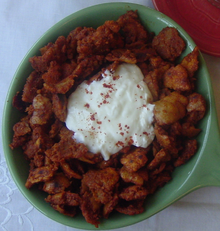 African cuisine wikipedia kitcha fit fit a mainstay in eritrean cuisine is presented with a scoop of fresh yoghurt and topped with berbere spice the cuisine of east africa forumfinder Image collections