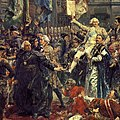Fragment of the painting Constitution of May 3, 1791, by Jan Matejko