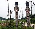 Korea-Andong-Jangseung and sotdae near Ongcheonri.jpg