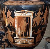 Painted urn showing scenes of the underworld