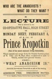 Conferencia de Kropotkin en Inglaterra