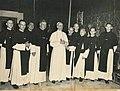 Kruisheren uden bij paus pius xii Crosiers from Uden Holland with PiusXII.jpg