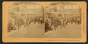 Krupp - Stereoscopic image from Krupp's great exhibit of guns at the Columbian Exposition in 1893
