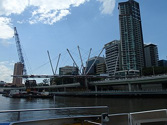 Kurilpa Bridge - Image: Kurilpa Bridge Construction