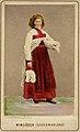 Kvinna i sockendräkt från Vingåker, Södermanland. Världsutställningen i Wien 1873 - Nordiska Museet - NMA.0039894.jpg