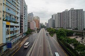 Kwai Chung Road - Kwai Chung Road near Kwai Hing