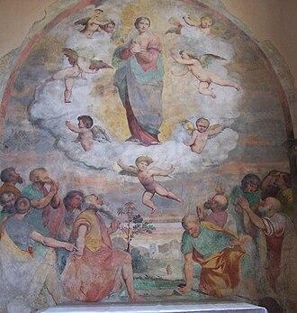 Callisto Piazza - Frescoes by Piazza in the church of Santa Maria in Restello, Erbanno.
