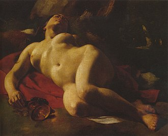 The Bacchante (Courbet) - Image: La Bacchante Courbet