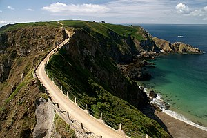 La Coupée, which connects Little Sark to Great Sark.