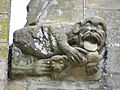 La Guerche-de-Bretagne (35) Basilique Collatéral sud Détail sculpté 05.JPG