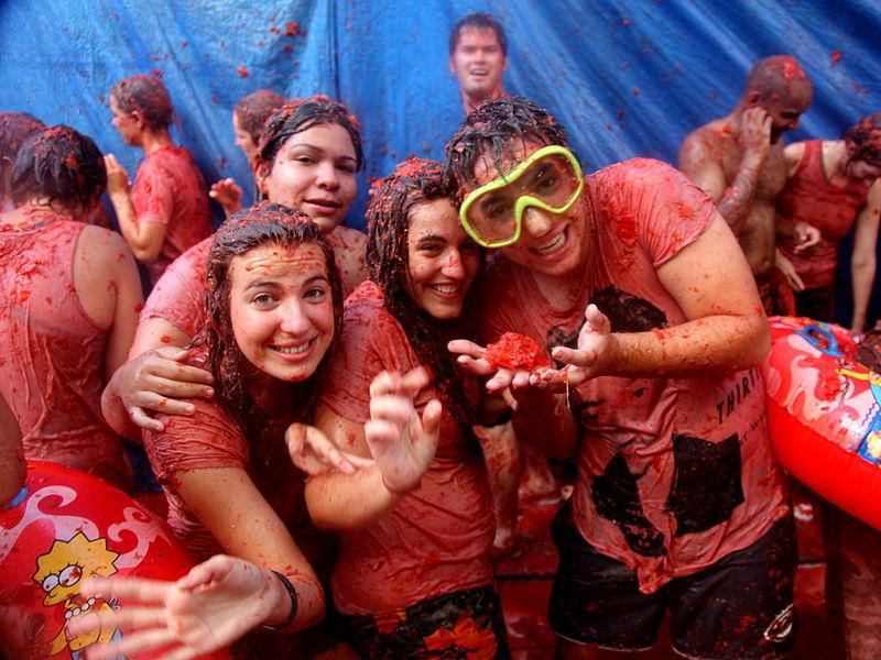 Tomatino festival in Spain