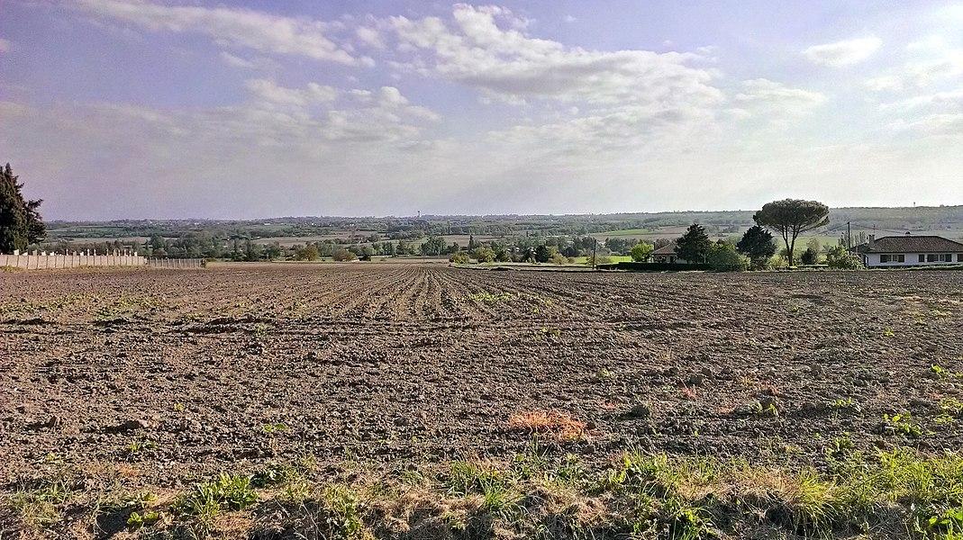 La vallée du Girou vue de Bazus