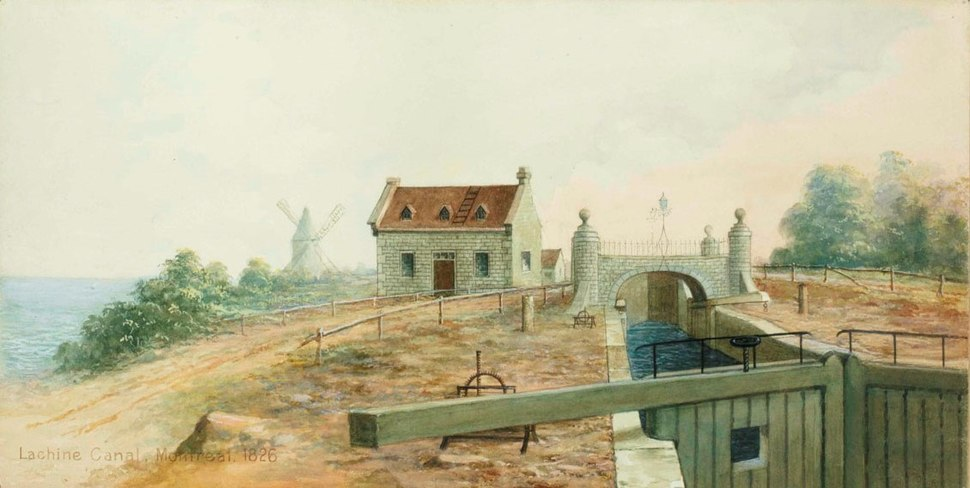 Lachine Canal, Montreal, 1826