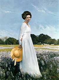 Lady Bird Johnson portrait by Shikler, 1978.jpg