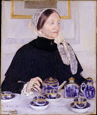 Lady at the Tea Table - Image: Lady at the Tea Table MET DT516