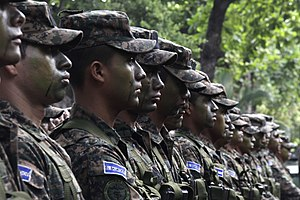 Demographics of El Salvador - Salvadoran troops