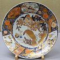 Large dish with cherry blossom and eagle design, Imari ware, Edo period, 1700s AD, porcelain, overglaze enamel - Tokyo National Museum - Ueno Park, Tokyo, Japan - DSC08955.jpg