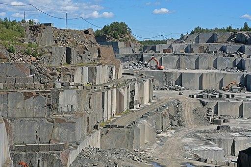 Larvikite quarry Larvik