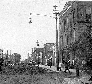 Laurinburg, North Carolina - Main Street, circa 1910