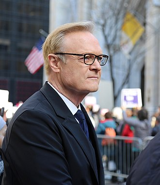 Lawrence O'Donnell - O'Donnell at the Women's March along Fifth Avenue on January 21, 2017